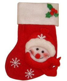 X'Mas By Shopaparty 2 Pieces Snowman Candy Bag - Red