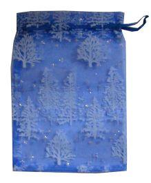 X'Mas By Shopaparty 2 Pieces Christmas Tree Bag - Blue