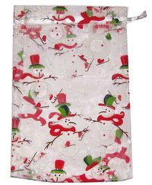 X'Mas By Shopaparty 2 Pieces Snowman Candy Bag - Multicolour
