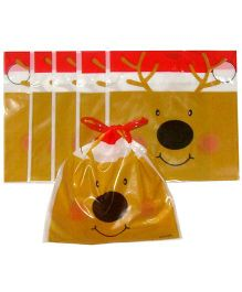 X'Mas By Shopaparty 6 Pieces Reindeer Drawstring Candy Bag - Multicolour