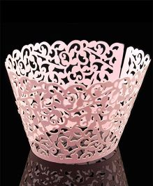 X'Mas By Shopaparty 12 Pieces Laser Cut Cupcake Wrappers - Pink
