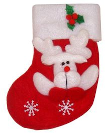 X'Mas By Shopaparty 2 Pieces Reindeer Stocking Bag - Red