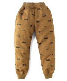 Jash Kids Full Length Printed Track Pant - Khaki