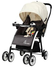 R for Rabbit Poppins An Ideal Pram For Moms - Cream & Brown