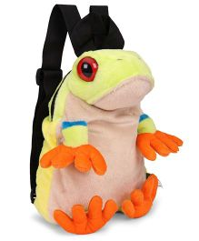 Wild Republic RET Frog Backpack Green & Brown - 30 cm