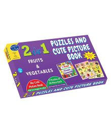 Sterling 2 In 1 Fruits & Vegetables Puzzles And Cute Picture Book