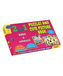 Sterling 2 In 1 Birds & Animal Puzzles And Cute Picture Book