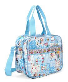 Mee Mee Diaper Bag Multi Print - Blue