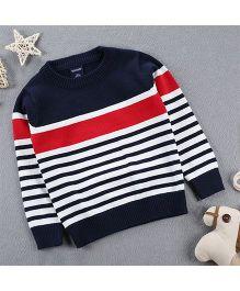 Tickles 4 U Striped Sweater - Blue