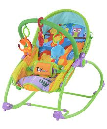 Toyhouse Rocking Chair Cum Baby Bouncer - Orange