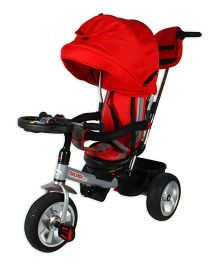 Toyhouse Kids Tricycle With Canopy - Red Black