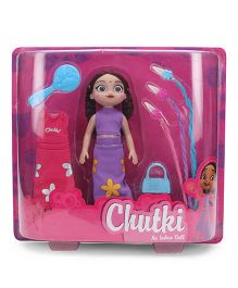 Chutki Doll With Accessories Purple And Pink - 24 cm