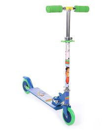 Chhota Bheem 2 Wheel Scooter - Blue And Green