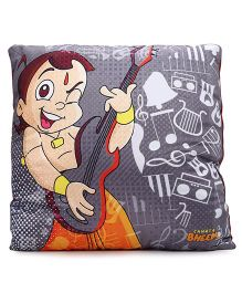 Chhota Bheem Cushion Printed - Grey And Orange