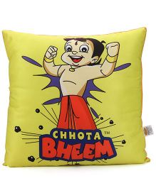 Chhota Bheem Square Shape Cushion - Yellow