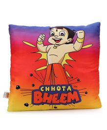Chhota Bheem Square Shape Cushion - Red Blue Yellow