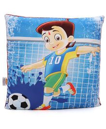 Chhota Bheem Square Shape Cushion - Blue