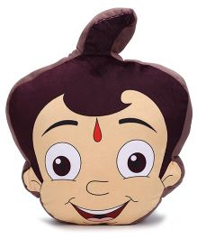 Chhota Bheem Face Cushion - Brown And Beige
