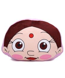 Chutki Face Cushion - Pink And Brown