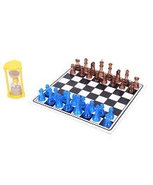 Virgo Toys Speed Chess And Criss Cross Set - Black And White