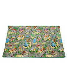 Unimats Children Educational Mats City Map - Multi color