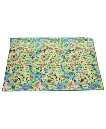 Unimats Children Educational Mats Zoo Map - Multi color