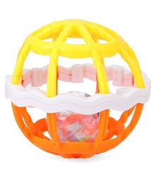 ToyFactory Baby Rattle Ball - Yellow & Orange