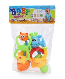 ToyFactory Rattle Set Pack Of 4 - Multi Color