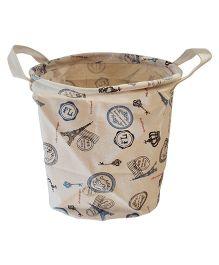 Little Nests Utility Basket Paris Style - Off White