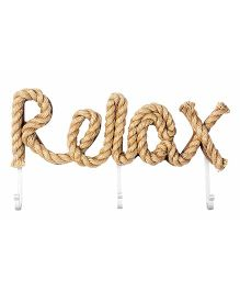 Little Nests Word Play Hooks Relax Theme - Brown