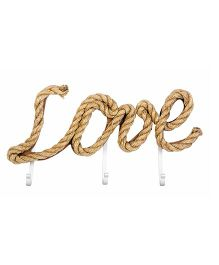 Little Nests Word Play Hooks Love Theme - Brown
