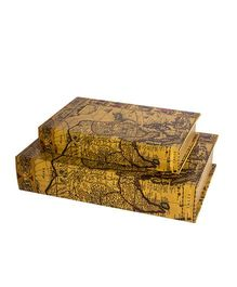 Little Nests Book Shaped Storage Boxes Pack of 2 - Yellow