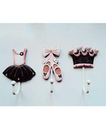 Little Nests Hooks Princess Theme - Pink And Black