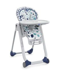Chicco Polly Progres5 High Chair Iceberg - Off White & Blue