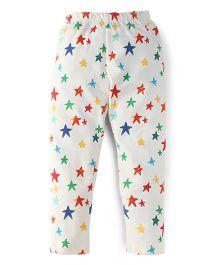 Ollypop Full Length Leggings Star Print - White