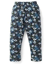 Ollypop Full Length Floral Design Leggings - Green