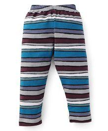 Ollypop Full Length Stripes Leggings - Blue Grey Black