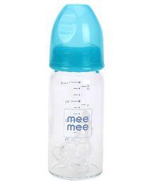 Mee Mee Premium Glass Feeding Bottle Blue - 125 ml