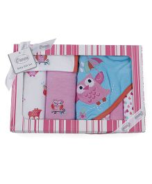Owen Clothing Gift Set Bird Embroidery - Pink Blue White