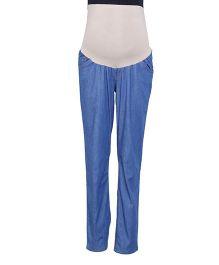 Kriti Full Length Maternity Jeans - Blue
