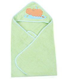 Babyoye Hooded Towel With Wash Cloth - Green