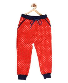 My Lil'Berry Printed Drawstring Joggers - Red