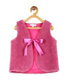 My Lil'Berry Faux Fur Sleeveless Shrug - Pink
