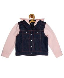 My Lil'Berry Knit  Bomber Jacket - Pink & Blue