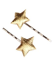 Knotty Ribbons Set of Two Star Bobby Pins - Golden