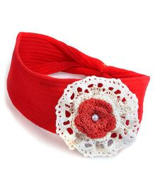 Knotty Ribbons Kids Headband - Red