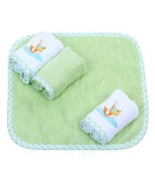 Owen Hooded Towel And Wash Cloth Pack Of 5 - Green