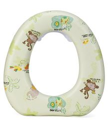 1st Step Cushioned Potty Seat Little Monkey Print - Green