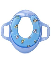 1st Step Padded Potty Seat With Handles Duck Print - Blue