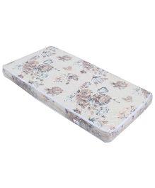 Spring Air Foam Mattress Rose Flower Design - White